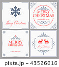 Merry Christmas and New Year greeting card 43526616