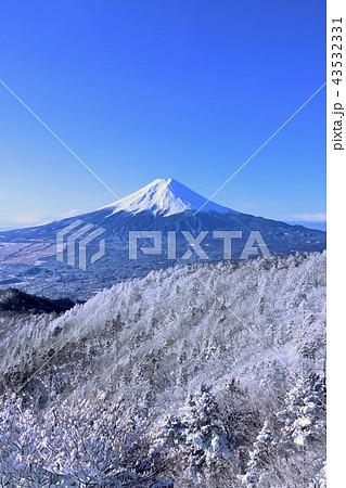 富士山と冬景色 43532331