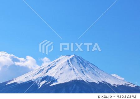 冬の青空と富士山 43532342
