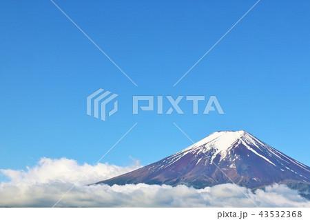 青空と雲海の富士山 43532368