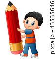 男子生徒 少年 男の子のイラスト 43535646