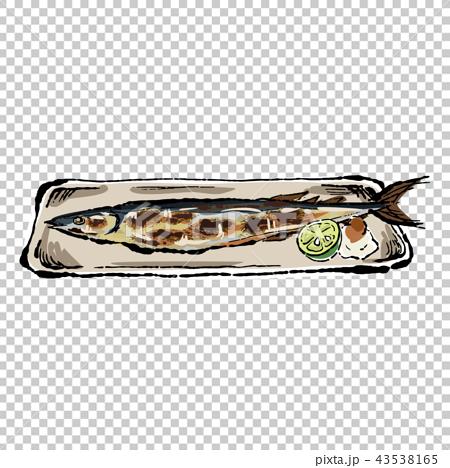 針魚 烤秋刀魚 烤魚 43538165
