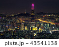 Night view over Seoul 43541138