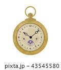 アンティーク 懐中時計 イラスト 43545580