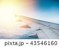飛行機 くも 雲の写真 43546160
