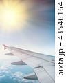 飛行機 くも 雲の写真 43546164