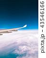 飛行機 くも 雲の写真 43546166