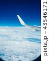 飛行機 くも 雲の写真 43546171