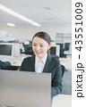 笑顔 ノートパソコン ビジネスの写真 43551009