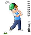 少年 GOLF ゴルフのイラスト 43553335