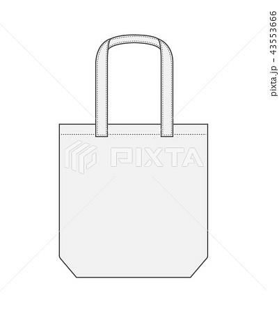 トートバッグエコバッグショッピングバッグ テンプレートホワイト