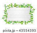 白木 看板 新緑のイラスト 43554393