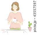 食器洗いをする女性のイラスト 43557597