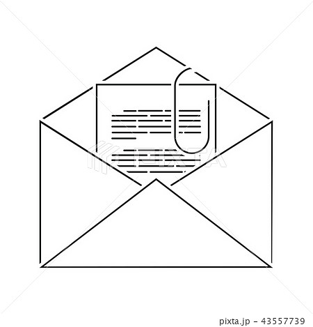 Mail with attachment icon 43557739