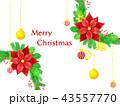 クリスマスリースの背景 43557770