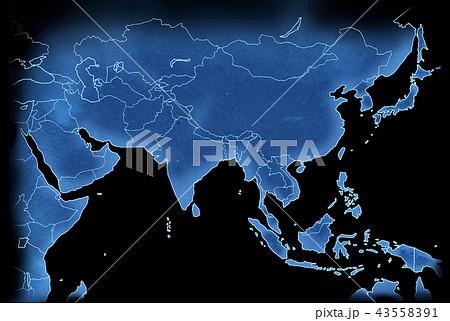 手描き 地図 古地図 テクスチャー 43558391