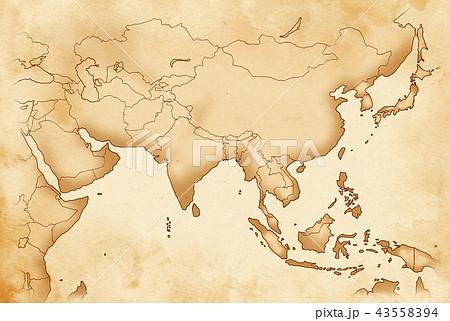 手描き 地図 古地図 テクスチャー 43558394