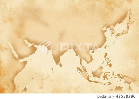 手描き 地図 古地図 テクスチャー 43558396