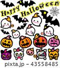ハロウィン かぼちゃ コウモリ 猫 おばけ セット 43558485