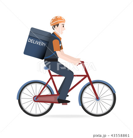 Man riding on bicycle for courier Delivery service 43558861