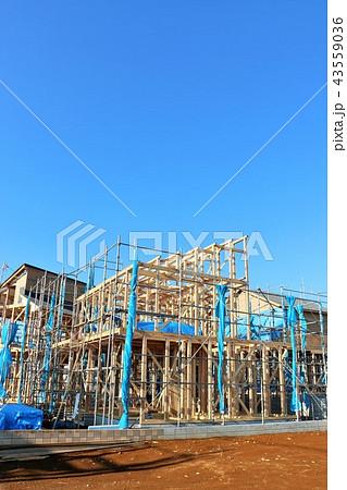 建設中の住宅 43559036