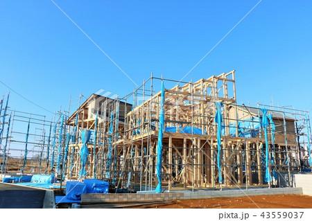 建設中の住宅 43559037