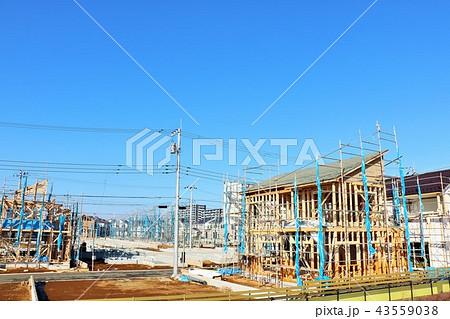 建設中の住宅 43559038