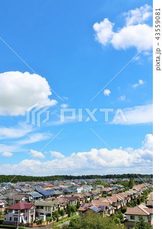 爽やかな夏の青空と住宅街 43559081