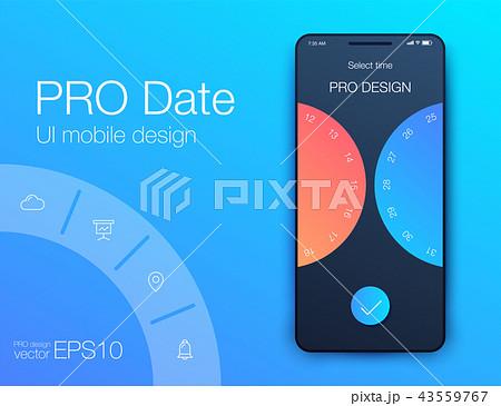 Date application UI design concept stock vector 43559767