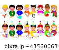 子供 セット パーティーのイラスト 43560063