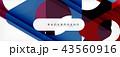 ジオメトリック 幾何学的 背景のイラスト 43560916