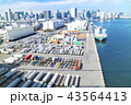 コンテナ 港 ベイエリアの写真 43564413