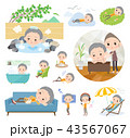 女性 シニア 老人のイラスト 43567067