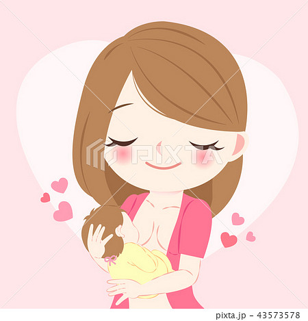 woman with breast feeding 43573578