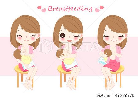 woman with breast feeding 43573579