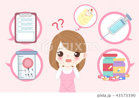 woman with infertility concept 43573590