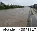 河川増水 43576817