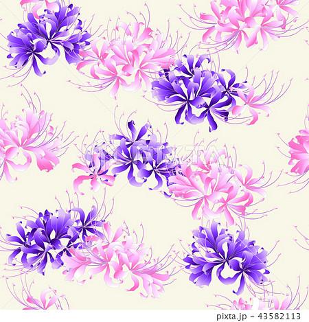 和柄 彼岸花の柄のイラスト素材 43582113 Pixta