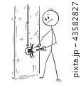 電気屋 電気技術者 電気工のイラスト 43582827