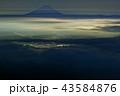 富士山 夜景 甲府の写真 43584876