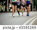 ランニング 走る ランナーの写真 43585269