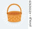 バスケット 枝編み細工 空いているのイラスト 43592929