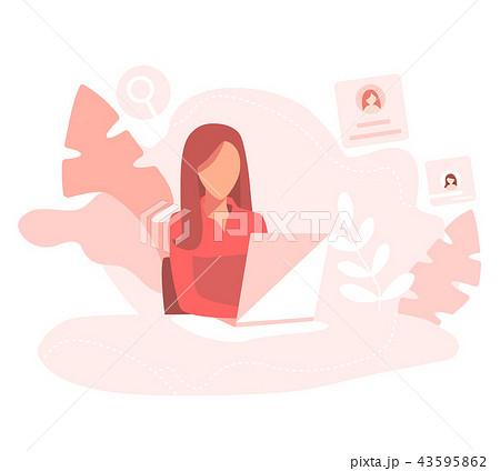 Office worker. Minimal flat design. 43595862