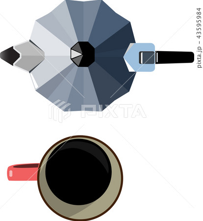 espresso pot and mug 43595984