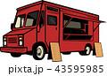 トラック 食 料理のイラスト 43595985