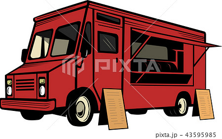 red food truck 43595985