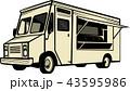 トラック 食 料理のイラスト 43595986
