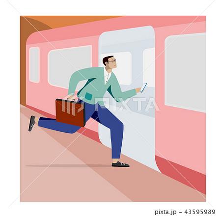 man taking a train 43595989
