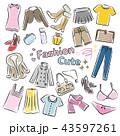 ファッション アイコン 手書きのイラスト 43597261