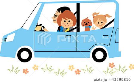 ドライブする家族 43599810